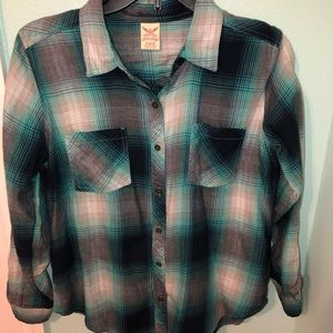 Turquoise Flannel Shirt